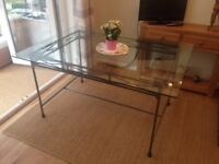Lovely glass top dining table