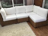 Cotswold company Corner sofa and table with storage for toys etc.