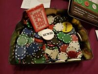 400 used poker chips - £5