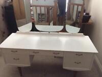 White Retro Dressing Table