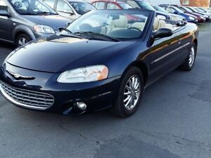 2003 Chrysler Sebring  model limited en cuir beige, superbe a vo