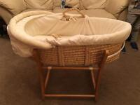 Mothercare Moses basket ancient rocking stand