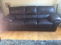 3 SEATER ITALIAN LEATHER SOFA