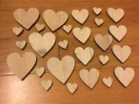 Assorted wooden hearts - wedding or arts and crafts