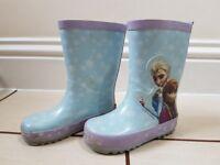Wellington Boots Frozen/Peppa Pig size 7