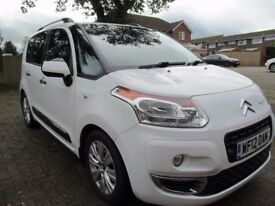 Citroen C3 Picasso Exclusive 1.6 HDi one previous owner 58000 miles, white, Full Service History