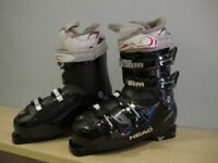 Head ski boots - used once - size 26.0 (7-8 UK size)