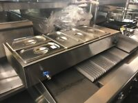 CATERING COMMERCIAL WET BAIN MARIE FAST FOOD CAFE KEBAB CHICKEN RESTAURANT TAKE AWAY SHOP KITCHEN