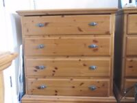 Antique pine set of drawers.