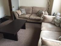 2 Alexis 4 seater sofas plus coffee and site table