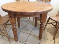 Solid Pine Round Kitchen/Dining Table 100cm Diameter (Table Only)