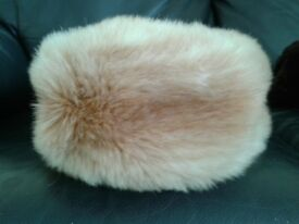 Faux fur Light tan hat