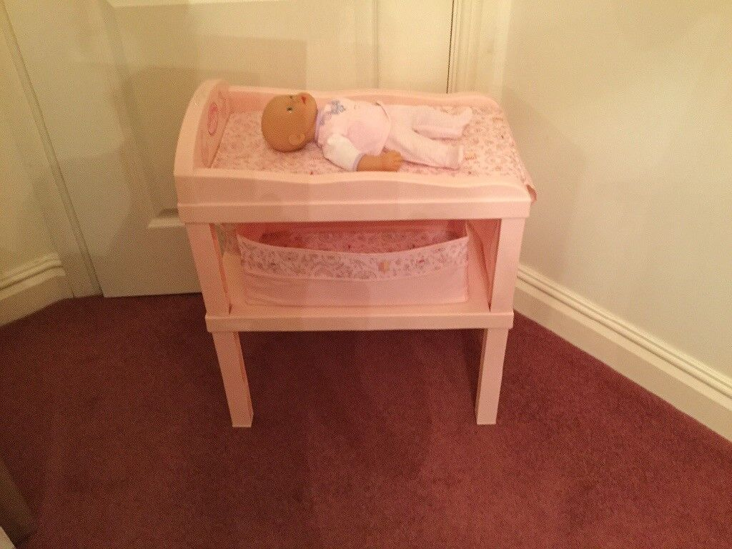 Baby Annabelle changing table storage box and doll £25 can deliver if local call 07812980350