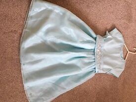 Girls Blue Wedding Dress from MARKS AND SPENCER Age 7