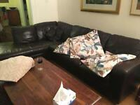 Free leather corner sofa, collection from Southfields