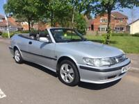 2002 SAAB 9-3 SE 2.0 T CONVERTIBLE ** 13 SERVICE STAMPS **