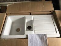 New fireclay White kitchen sink
