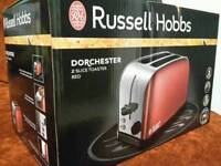 russel hobbs dorchester red toaster