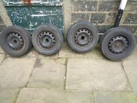 4 steel wheels with good tyres, cheap £60