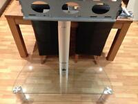 Glass Table (Corner) Unit TV Stand