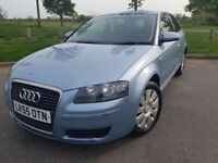 Audi A3 Automatic 1.6 low milage, full mot history, comes with extras