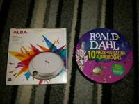 Cd walkman and set of 10 Roald Dahl cd books
