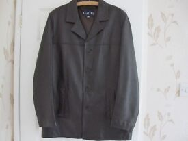 Mens Quality Soft Leather Brown Coat Size Medium