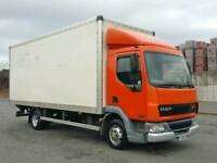 2005 DAF FA LF45 150 BOX TRUCK WITH TAIL LIFT 1 OWNER FROM NEW LOW MILEAGE - LIKE MERCEDES MAN IVECO