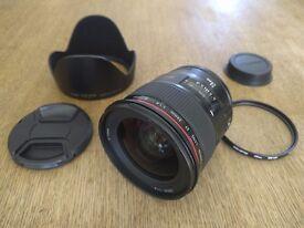 CANON EF 24mm LENS f/1.4L II USM + Kenko UV filter