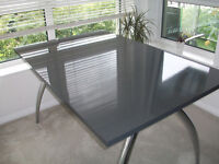 stylish dining table .