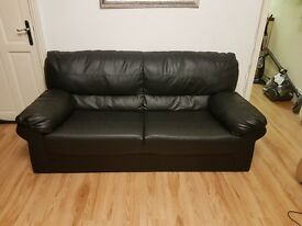 3 seater pvcu leather sofas (2 sofas both 3 seaters)
