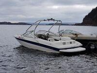 bayliner 205 5.0 mpi v8 260.hp speedboat ski boat 23ft x 8ft swim platform tower