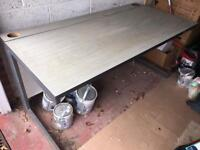 Office table with metal legs