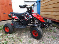 Quad Bike 49cc (Child's 5yrs +) With 2 x (Large Childs) Helmets and Gloves