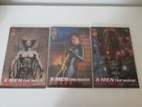 X Men- The Movie Prequel x 3 Signed Comics Wolverine, Magneto, Rogue