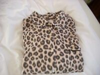 Next Animal Print Pyjamas size med new