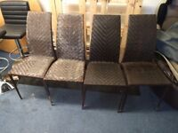 4 designer chairs - garden, patio, outside, inside