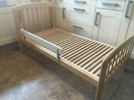 John Lewis toddler bed junior bed and IKEA bedguard