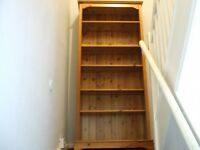 Lovely solid pine bookcase 6 ft x 2 ft 8 inch & 10 inch deep