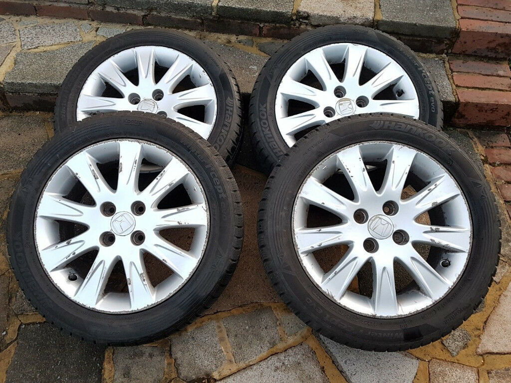 Honda Jazz Alloy Wheels 15 With Tyres 18555r15 Hankook Winter I