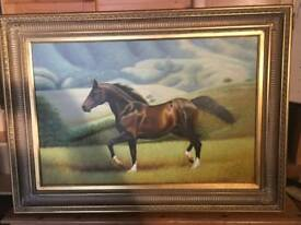 Horse canvas signed by S.Kurs