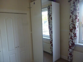 Ikea PAX Wardrobe Mirror Gloss White - Excellent condition - Only £35