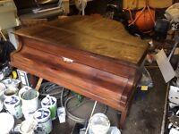 Baby grand piano free to uplift needs work done