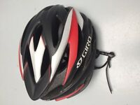 Giro Savant women bicycle helmet Black and red 222g small 51-55cm. barely worn