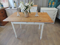 Antique French farmhouse dining table – shabby chic