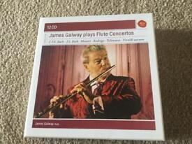 12 Classical CD set James Galway plays Flute Concertos