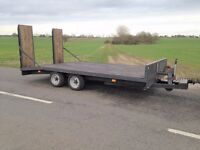 TOW RITE PLANT TRAILER 3500KG 14FT X 7 FT.BEAVER TAIL.RAMPS.NEW TYRE'S. TWIN AXLE