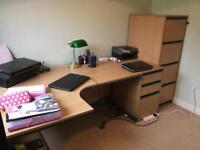 3 piece Beech Office Furniture