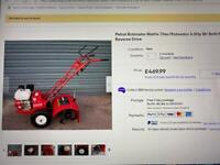 Mattis Rotovator for sale - pretty much as new - dusty from storage
