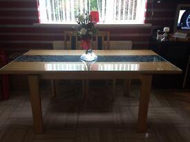 Oak dining table £40